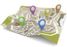Map and GPS Concept - 3D Stock Photo