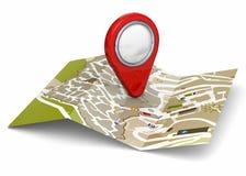 Map and GPS Concept - 3D Stock Photos
