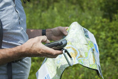 Map and gps Stock Photo