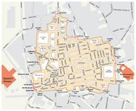 Map of the Grand Bazaar in the Fatih district of Istanbul. Turkey royalty free illustration