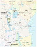 Map of the great African lakes. Vector map of the great African lakes Royalty Free Stock Image