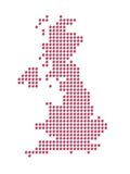Map of the Great Britain. With Union Jack Stock Images