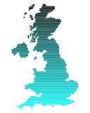 Map of Great Britain. In broad lines with turquoise gradient Royalty Free Illustration