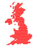 Map of Great Britain Stock Image