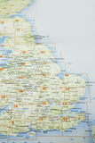 Map of Great Britain Royalty Free Stock Photos