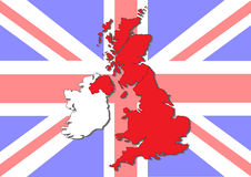 Map of Great Britain and Ireland Stock Images