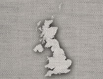 Map of Great Britain on linen, Royalty Free Stock Photography