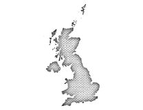 Map of Great Britain on linen,. Colorful and crisp image of map of Great Britain on linen Royalty Free Stock Images