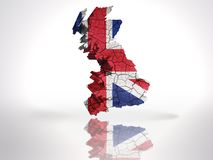 Map of  Great Britain. Map of Great Britain with British Flag on a white background Royalty Free Stock Photography