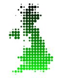 Map of Great Britain Royalty Free Stock Photo
