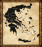 Map of Greece Stock Photos