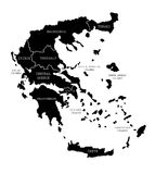 Map of Greece Stock Images