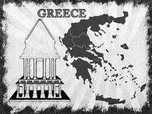 Map of Greece Royalty Free Stock Photos