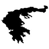 Map of Greece Stock Image