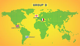 Map group D Stock Image