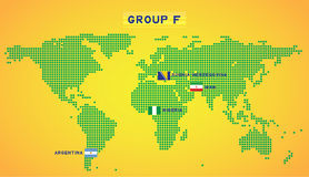 Map group F Royalty Free Stock Images