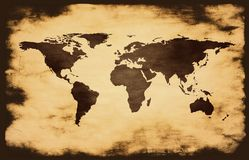 map on grunge background Royalty Free Stock Photography