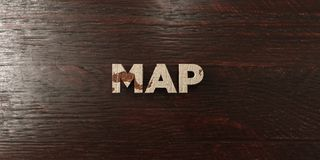 Map - grungy wooden headline on Maple - 3D rendered royalty free stock image. This image can be used for an online website banner ad or a print postcard vector illustration