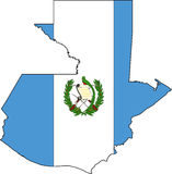 Map Guatemala Royalty Free Stock Photography