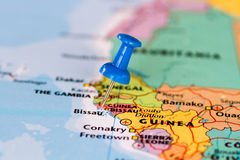 Map of Guinea Bissau Stock Photo
