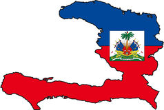 Map Haiti. Illustration Vector of a Map and Flag from Haiti Stock Image
