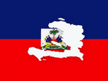 Map of Haiti. Royalty Free Stock Images