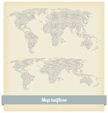 Map halftone vector Stock Photography