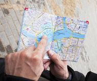 Map in hands Royalty Free Stock Photo
