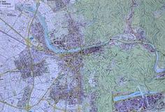 Map of heidelberg Stock Photos