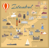 Map of the historical center of Istanbul Royalty Free Stock Photos