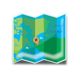 Map Holiday Icon Royalty Free Stock Photos