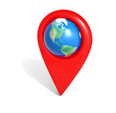 Map home pointer Royalty Free Stock Image