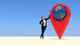 Map home pointer Royalty Free Stock Photography