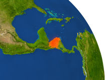 Map of Honduras in red Stock Photography