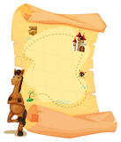 A map with a horse Stock Photography