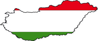 Map Hungary Royalty Free Stock Images