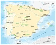 Map of the Iberian Peninsula Stock Image