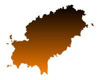 Map of Ibiza Stock Photography