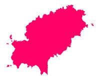 Map of Ibiza Stock Image