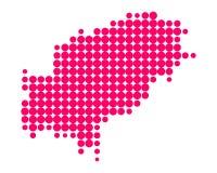 Map of Ibiza Royalty Free Stock Image
