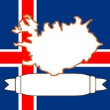 Map of Iceland Royalty Free Stock Photo