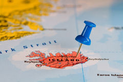Map of Iceland Royalty Free Stock Images