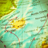 Map of Iceland. Close-up image Royalty Free Stock Photography