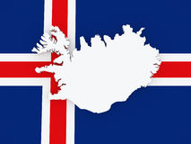 Map of Iceland. Stock Photos