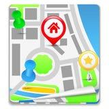 Map Icon Stock Photos