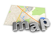Map icon Royalty Free Stock Image
