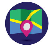 Map Icon an 3D Pin Design. EPS 10 supported Stock Photo