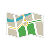 Map icon. Navigation instrument design. Vector graphic Stock Photo