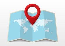 Map icon with Pin Pointer. Modern design. Vector Stock Photos