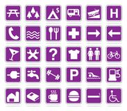 Map icon set Stock Photography